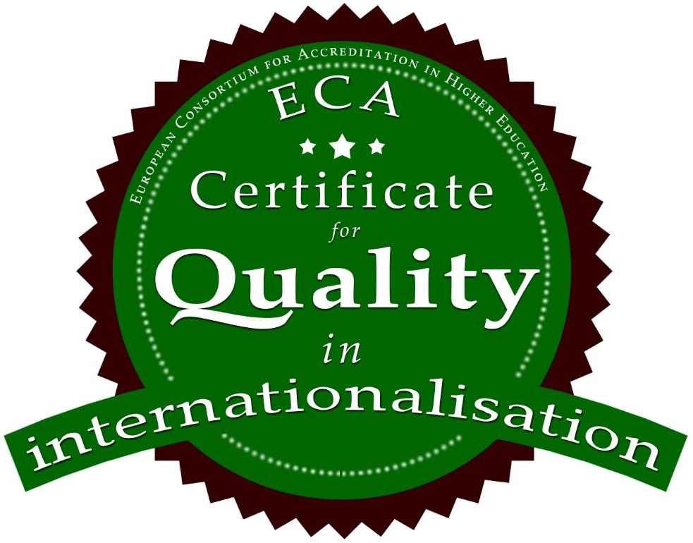 ECA Certofocate of internnationalisation