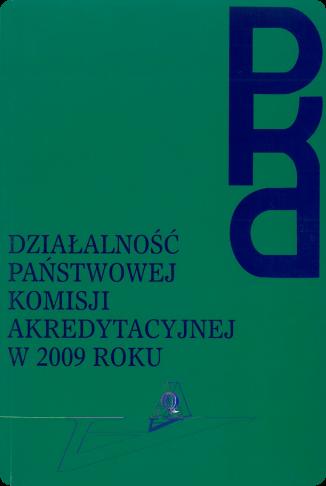 okładka publikacji: Działalność PKA w 2009 roku