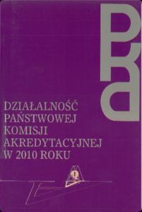 Sprawozdanie zdziałalności PKA w2010 r.