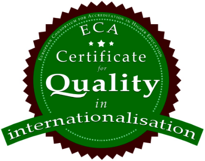 "grafika certyfikatu ECA ""quality in internationalisation"